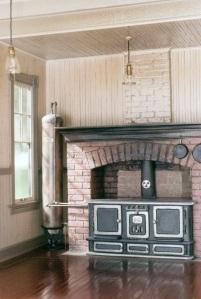 Wood stove & water tank