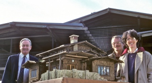 Noels & Pat with RAndall Mackinson, curator of the Gamble House Museum
