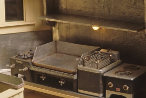 Cooking area. By the details, you would guess correctly that we each worked as short order cooks in our early years.