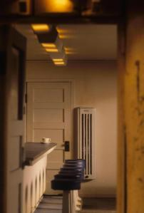 Gas wall heater and neon flourette details